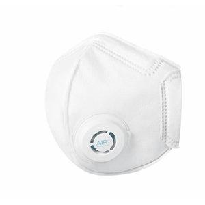 Tolmumask AIR+ FFP3 klapiga, volditav (respiraator) 10tk, Paftec