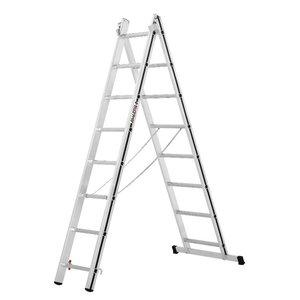 Combination ladder, 2x8 steps, 2,28/3,69m 70045, Alu-Pro