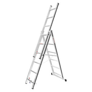 Combination ladder 3x6 steps, 1,75/3,71m 70047, Alu-Pro