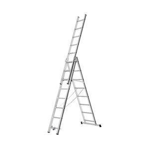 Kombinētās kāpnes 3x8 pakāpieni, 2,32/5,11m 70047, Alu-Pro