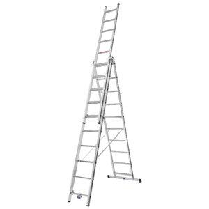 Kombinētās kāpnes 3x10 pakāpieni, 2,88/6,52m 70047, Alu-Pro