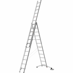 Combination ladder 3x8 steps, 2,41/5,21m ALU-PRO Smart-Base