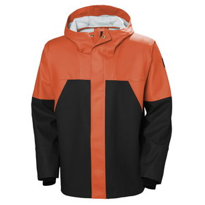 Vandeniui atspari striukė Storm Rain, orange/black 2XL, Helly Hansen WorkWear