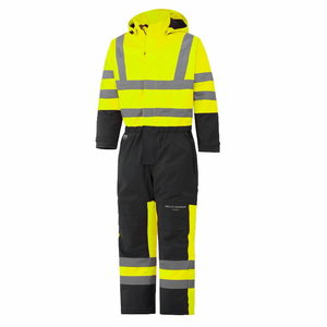 Hi-Viz Winter overall with hood Alta yellow/dark blue, Helly Hansen WorkWear