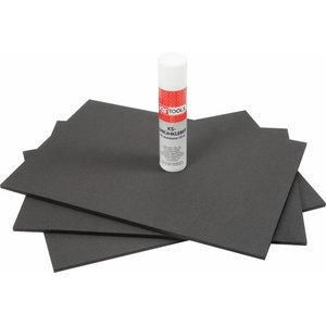 PU-foam sheets 390x564mm 10mm 3pcs, KS Tools