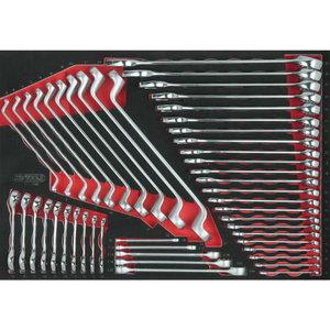 SCS wrench set, 48 pcs, 1/1 system insert, KS Tools