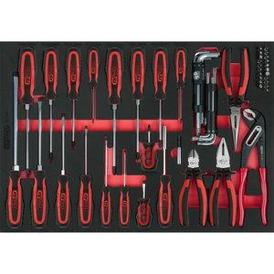 Pliers and screwdriver set, 59 pcs, 1/1 system insert, KS Tools