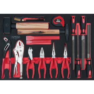 pliers, hammer and file set 17-pcs 1/1 system insert, Kstools