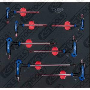 SCS ERGOTORQUEplus T-handle TX   key wrench set, 7 pc, KS Tools