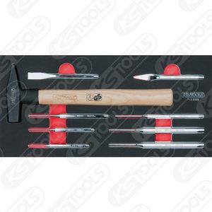 SCS chisel and hammer set, 9 pcs, 1/3 system insert, Kstools