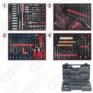 Universalus sistemos įdėklų kompl.  4 stalčiams, 515 vnt, KS Tools