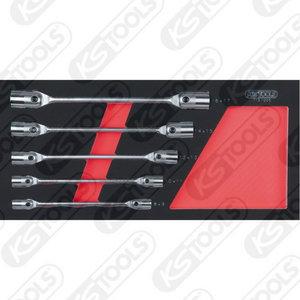 Liigendpadrun võtmete kmpl 8-17mm 1/3 moodulis, KS Tools