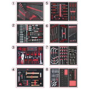 Sistemos įdėklų komplektas 8-iems stalčiams, 418vnt, KS tools