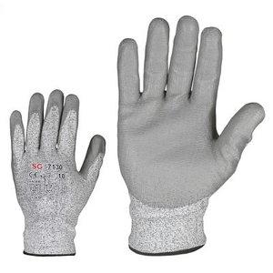 Gloves, cut resistancy level B, PU coating