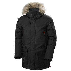 Winter jacket parka Bifrost, hooded, black, Helly Hansen WorkWear