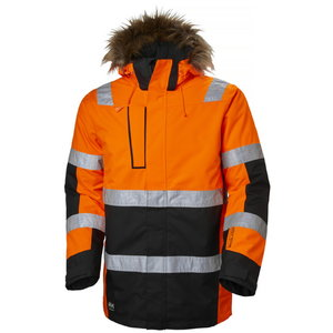 Talvepaparka kõrgnähtav Alna, oranž/must XL, Helly Hansen WorkWear