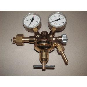 """Pressure regulator O2 AGA cyl. W21,8x1/14"""""""" G3/8x6mm, Binzel"""