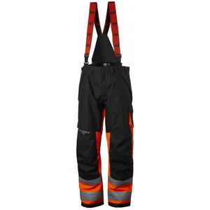 Kõrgnähtavad talvepüksid Alna CL1 traksidega, oranž/must C46