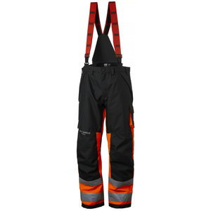 Kõrgnähtavad talvepüksid Alna CL1 traksidega, oranž/must C58