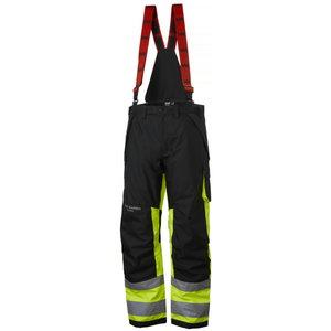 Kõrgnähtavad talvepüksid Alna CL1 traksidega kollane/must, Helly Hansen WorkWear