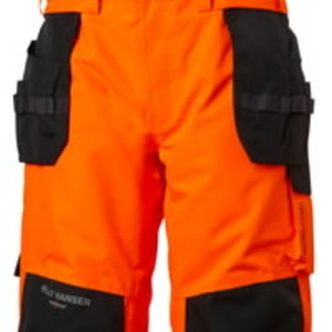 Kõrgnähtavad koorikpüksid Alna CL2 traksideg, oranž/must C50, Helly Hansen WorkWear