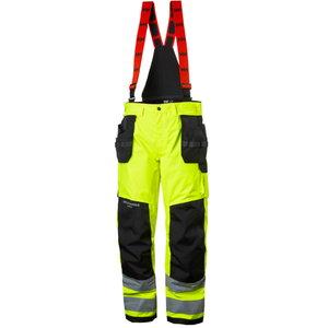 Kõrgnähtavad koorikpüksid Alna CL2 traksideg, kollane/must C60, Helly Hansen WorkWear