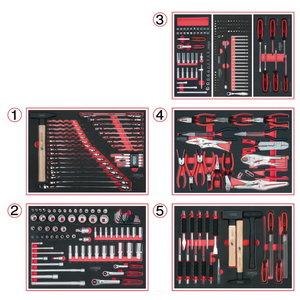 Sistemos įdėklų komplektas 5 stalčiams, 299 vnt, KS tools