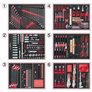 Tööriistakomplekt 404-osa, 6 sahtlimoodulit, KS Tools