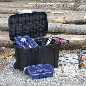 Instrumentu kaste ar riteņiem ToolChest 100 melna/zila, Raaco