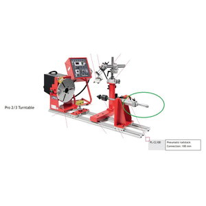 Pneumatic-tailstock PL-CL100 for PRO 2, Javac