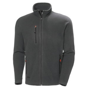 Oxford fleece jacket, dark grey L, , Helly Hansen WorkWear