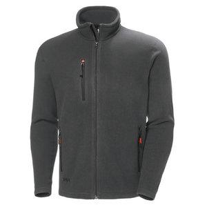 Oxford fleece jacket, dark grey L, , Helly Hansen WorkWear