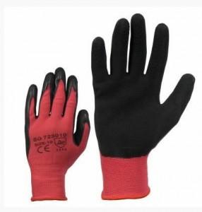 Nailon Gloves, dipped in lateks 10