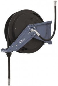 Hose reel open, 1/2´´x15m, oil/air/water, blue, Orion