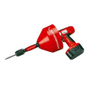 Drain cleaner ROSPI R36 Plus, standard 230V 8mm x 7,5m w bat, Rothenberger