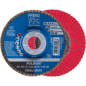 Vėduoklinis diskas 125mm P40 CO-COOL PFC Ceramic
