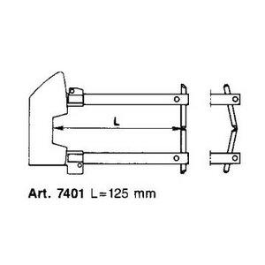 Punktu metināšanas roku pāris L125mm ar elektrodu d12mm, Tecna S.p.A.