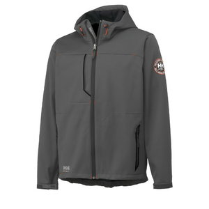Softshell jakk Leon kapuutsiga, hall, Helly Hansen WorkWear