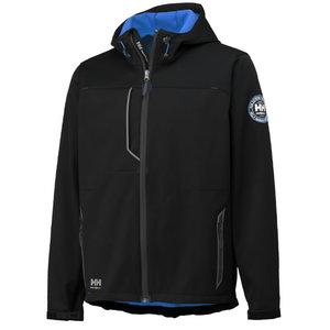 Softshell jakk Leon kapuutsiga must/sinine XL