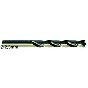Metallipuur Ø2,5mm HSS-E, Co 5 DIN 338 VA 10tk, Exact