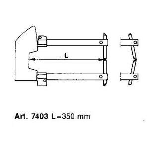 Punktu metināšanas roku pāris L350mm ar elektrodu d12mm, Tecna S.p.A.