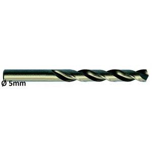 Metāla urbis Ø5,0mm HSS-E, Co 5 DIN 338 VA 10gab, Exact
