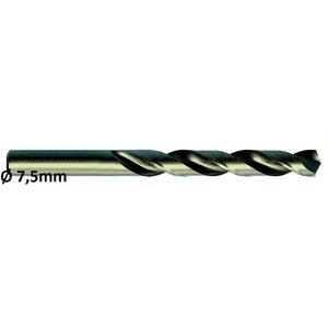 Metallipuur Ø7,5mm HSS-E, Co 5 DIN 338 VA 10tk, Exact