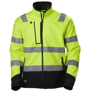 Kõrgnähtav softshell jakk Alna kollane/must L