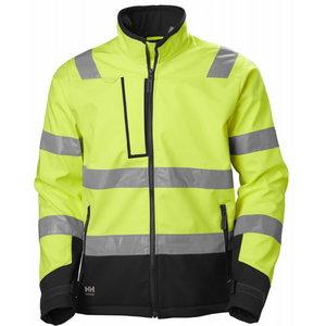 Softshell jakk Alna 2.0  kõrgnähtav CL3, kollane/must L, Helly Hansen WorkWear