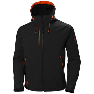 Softshell jakk kapuutsiga Chelsea Evolution, must S, Helly Hansen WorkWear