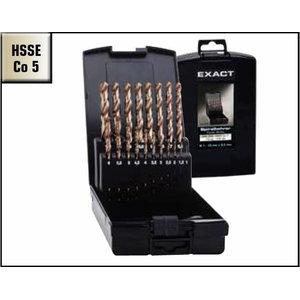 Metal drill bit 25pcs HSSE-Co5 Ø1-13mm DIN 338 VA, Exact