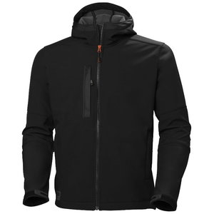 Džemperis Kensington SOFTSHELL su gobtuvu, black M, Helly Hansen WorkWear