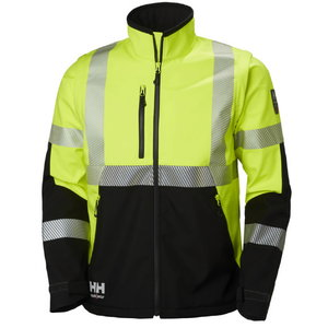 Softshell jakk Icu kõrgnähtav CL3, kollane/must 3XL, Helly Hansen WorkWear