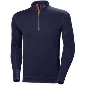 Marškinėliai LIFA Merino Halfzip, tamsiai mėlyna M